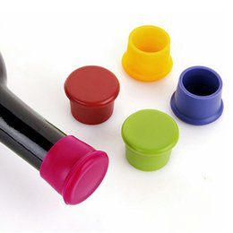 Wholesale Champagne Stoppers Wholesale - Free Shipping + Wholesale Wine Bottle Stopper Silicone Bar Tools Wine Stoppers Kitchen Wine Champagne Stopper wa4085