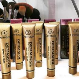 Wholesale Type Purple Color - 100% Original Dermacol base primer corrector concealer cream makeup base tatoo concealer face foundation contour palette 30g