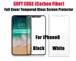 Wholesale Iphone Covers Sale - For iPhone X Full Cover Soft Edge Tempered Glass Phone Screen Protector Film Bulk Sale No Retail Package DHL Free Shipping