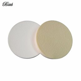 Wholesale cheap face powder - Round Makeup Sponge Powder Puff Facial Cosmetic Puff White Skin Dry Wet Powder Puffs Make Up Beauty Face Powder Tool Cheap