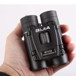 Wholesale Film Device - BIJIA 20x22 30x22 2 Types BAK4 Zoom HD Mini Binocular Telescopes Green Film Lens Travel Spotting Scope Outdoor Device