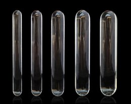 Wholesale Glass Lesbian - New Pyrex Glass Dildo Small to Big Huge Large Glassware Penis Crystal Anal Plug Unisex Sex Toys women men gay lesbian products