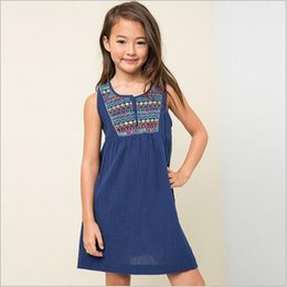 Wholesale Nations Red - 2016 Junior Floral Cotton Dresses Teenager Nation Fashion Dress Big Kids Girl Autumn Christmas Clothing Babies Clothes