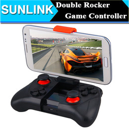 Contrôleur bluetooth android gamepad en Ligne-Double Rocker Smartphone Game Controller Wireless Bluetooth Phone Gamepad Joystick pour Android Phone / Pad / Android Tablet PC TV 25pcs / lot