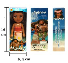 Wholesale Chick Shoes - 16 cm Moana figures Lovely Moana dolls Maui Chick Handan spotted pig Moana figurines Model Toy horses for girls shoes Christmas gift DHL