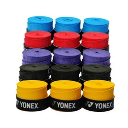 Wholesale Yellow Black Tape - Wholesale-5pcs lot Viscous PU Sweatband Non-Slip Tape for Fishing Rod Racket Handle Tape Overgrip Tennis Badminton Bicycle Handle Pack