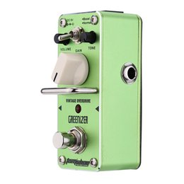 Wholesale Pedals Vintage - New Arrival! AROMA AGR-3 Greenizer Vintage Overdriver Mini Single Guitarra Effect Pedal True Bypass Electric Guitar Effect Pedal