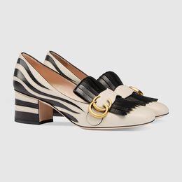 Wholesale Wedge Prom Heels - Women Leather Mid-heel Loafers Tassel Metallic Studded Pumps Horsebit Moccasins Pearl Heart Slippers Slip On Dress Prom Wedges Shoes