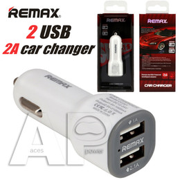 Wholesale Dual Usb Car Retail - Remax Dual 2Ports 2.1A USB-Powered Intelligent Car Chargers Adapter For iPhone7 Plus Charger Samsung Galaxy S7 Edge J7 ON5 Retail Package