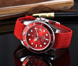 Wholesale Men Leather Band Watches - 2017 Top Luxury Leather High Quality nylon Band Lovers Fashion Brand Watch For man Luxury Watch For Woman Dress Casual Wristwatch