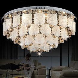 Wholesale Cristal Ceiling - 2016 Modern Glass Chandelier LED Crystal Ceiling lamp K9 Cristal Pendant Chandelier for Modern Home Decoration