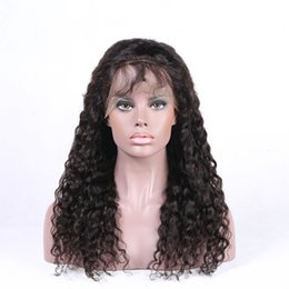 Wholesale Curly Hair Half Wigs Cheap - Cheap Virgin Kinky Curly Human Hair Wigs Peruvian Pour Color Lace Front Wigs for Short Hair & Full Lace Curls Wigs for Sale