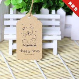 Wholesale Kid Clothing Logo - High quality 350g kraf paper tag with logo for kids clothing craft sewing price tag for kids clothing 50 pcs lot in stock