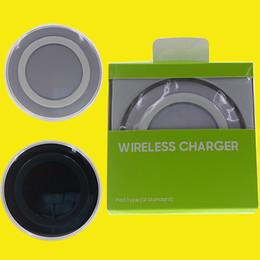 2019 s6 rand mobil 2016 Universal-Qi Wireless-Ladegerät nicht schnell Aufladung für Samsung Hinweis Galaxy S6 s7 Edge mobile Pad mit Kleinpaket DHL Free OTH170 günstig s6 rand mobil