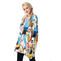 Mujeres holgadas sudaderas online-Belleza Garden Women Pullover 2017 Nueva Moda Womanly manga larga Print Sweater Otoño Casual Women Super Baggy Sweater