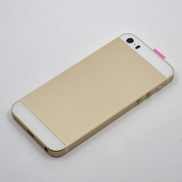 Wholesale Apple Battery Test - Housings for iphone 5s Back Housing Back Cover Case Assembly Replacement with Logo Gray Gold Battery Door Case 100% Test