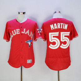 Wholesale Wholesale Stitched Jerseys - Women New Blue Jays Baseball Jerseys Men #55 MARTIN JOHNSON Red Jerseys stitched Top quality Mix Order