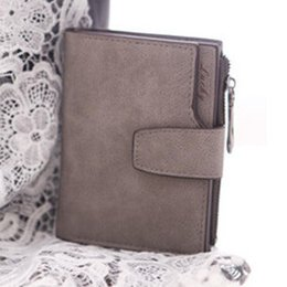 Wholesale Magic Purses - Wholesale- 2016 Busienss Women Mini Grind Magic Bifold Leather Wallet Card Holder Women Wallet Purse Coin Purse Handbag carteras mujer