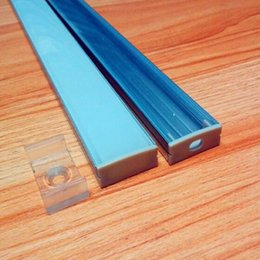Wholesale Profile Alu - 10pc(25m) pack; 2.5m 100inch per piece 20mm Wide Alu U channel profile for Double row Kitchen led lighting QC2410-2.5M