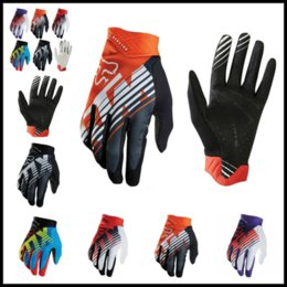 Wholesale gloves gear - FOX MTB Racing Gloves 5 Colors Winter Motocross Dirtpaw Rockstar Full Finger Protective Gear for Men Women