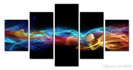 Wholesale Lighted Wall Art Panels - YIJIAHE Abstract Print Canvas Painting Light 5 Piece Canvas Art Wall Pictures for Living Room Large Wall Art E13 Framed