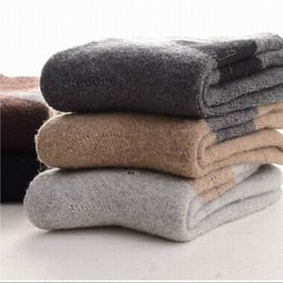 Wholesale Discount Socks Free Shipping - Wholesale-Men socks thick use wool from Inner Mongolia natural fabric super warm comfortable winter BIG Discount Free shipping