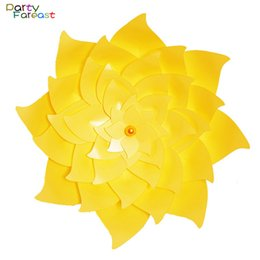 Wholesale Handmade 3d Stickers - Pf 60cm Diy Paper Flower Colorful Handmade 3d Stickers Decoration Props For Wedding Birthday Party Supplies Decor Flowers Pd0268
