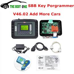 Wholesale Silca Key Maker - DHL Free Latest SBB V46.02 Programming New Key In Immobilizer Copy Transponder Chip Silca SBB Key Programmer 46.02 Car Key Maker