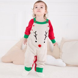Wholesale Korean Sweater Fashion Boys - Fancy baby boy clothes korean Christmas fashion baby clothes Autumn and winter Infant Christmas Sweater