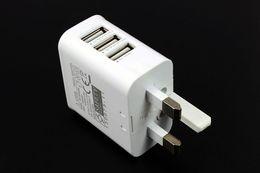 Великобритания Plug True 3A 3 порта USB Power AC зарядное устройство путешествия адаптер для PAD AIR MINI Samsung s4 s5 Примечание 3 200 шт./лот от Поставщики s4 mini uk