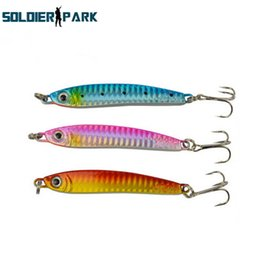 Wholesale Vertical Jigs - Fishing Lure Tackle Hard Metal Iron Plate Road Sub-bait Deep Sea Boat Fishing Bait Laser Glow Jigging Vertical Sequin Lure order<$18no track