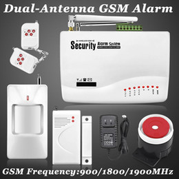 Wholesale Security Alarm Gsm Dialer - New Wireless Wired GSM Voice Home Security Burglar Alarm System Auto Dialing Dialer Android IOS Mobile Phone GSM SMS Remote Control Alarm