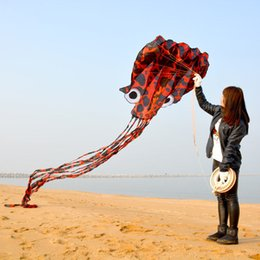Wholesale Big Toys Meter - 3D 5.5 meters Stunt huge octopus POWER Sport Kite outdoor toy free shipping