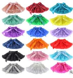 Wholesale Silk Tutu Ballet - 2016 New Baby Girl Tutu Skirt Chiffon Lace Princess Dance Party Pettiskirt Kids Rainbow Candy Floral Silk Ballet Saias Skirts hight quality