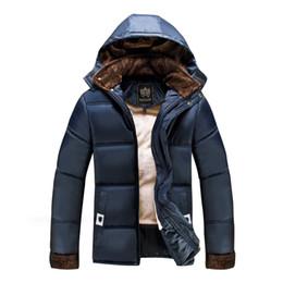 Wholesale Down Proof - Wholesale- Men's Winter Wind Proof Jackets Fleece Long Jacket Loose Fit Stylish Men Overcoat Casual Men Outwear Coat