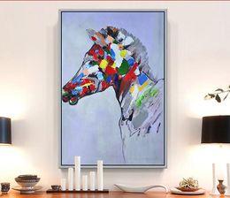 2019 mão zebra lona de pintura a óleo Zebras Pintura A Óleo Contemporânea Arte Abstrata Pintura Animal Pintados À Mão Pintados À Mão Pinturas Da Lona Da Zebra b05 desconto mão zebra lona de pintura a óleo