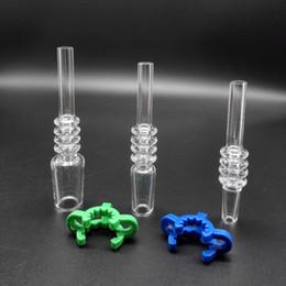 Wholesale Plastic Glass Clips - Wholesale New 10mm 14mm 18mm Quartz Tip for Mini Nectar Collector Kits With Free Plastic Keck Clips Quartz Banger Nail Quartz Tips