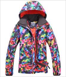 Wholesale Snow Jackets For Men - mens ski jacket letter scrawl snowboarding jacket for men warm snow coat skiwear mountaineering jacket waterproof 10K warm