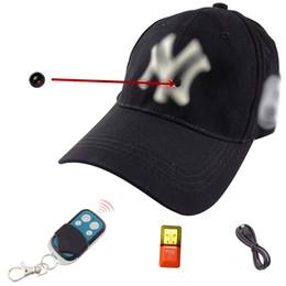 Wholesale Build Hat - 2016 New Build-in 8GB Memory 1080P HD Spy Hidden Camera Hat Video Recorder Mini Cam DVR DV Wireless Remote Control Free Shipping