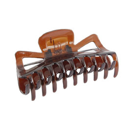 Wholesale hair claws clamps - Wholesale- JEYL Hot New New Practical Durable Woman Brown Plastic Bath Hairclip Hair Clamp Claw Barrette