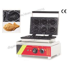 Wholesale Taiyaki Baker Maker - Electric Taiyaki waffle machine fish-shape cake waffle baker taiyaki maker wonderful snack machine with 6 moulds stainless steel body