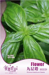 Wholesale Growing Herb Gardens - 60 pcs bag Basil Seeds, Original Package Super Easy Grow Garden Bonsai Spice Seeds Ocimum basilicum 3bags per lot