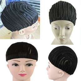 Wholesale Hair Nets For Wigs - 5 pcs Crochet wig Cornrows Cap For Easier Sew In Braided Wig Caps Crotchet Caps for Making Wig Glueless Hair Net Liner Caps