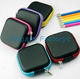 Wholesale earphones plastic cover - Fashion Square Hand Spinners Case EVA Earphones Container Bags Data Lines Box Multi Function Fidget Spinner Bag Boxes 7.5*3cm 1 7gm