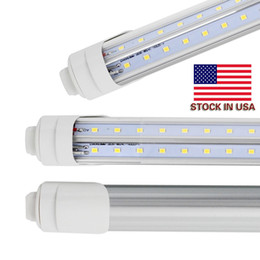 t8 led tube daylight 2018 - led 8ft tube R17D 45W 5000Lm T8 Fa8 led lights double row 2.4meter 72W Daylight 4000-5000K Cold White 6000-7000K