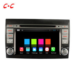 Wholesale Dvd Gps Fiat Bravo - 1024X600 Quad Core Android 5.1.1 Car DVD Player for Fiat Bravo with Radio GPS Navi Wifi DVR Mirror Link BT+Free Gifts