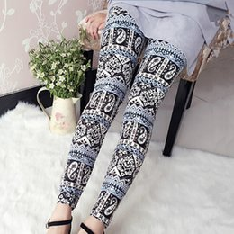 Wholesale Totem Leggings - Free Shipping 2016 Totems Leggings Slim Pants girls Stretchy Skinny cotton knitted mid Waist milk fiber fashion pants