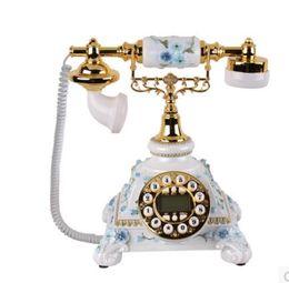 nouveau type champ téléphone de style européen style européen de la mode rurale nouveau téléphone antique pour montrer la décoration d'écran bleu ancienne table cu ? partir de fabricateur