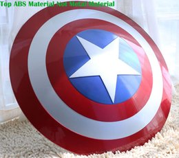 Wholesale Adult Cosplay Models - The Avengers Civil War Captain America Shield 1:1 1 1 Cosplay captain america Steve Rogers ABS model adult shield replica