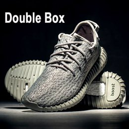Wholesale Body Sold - Top 350 Boost Walking Shoes,Double Box Kanye West 350 Shoes Moonrock+Turtle Dove+Pirate Black+Oxford Tan,Best sell Sneaker Shoes